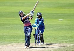 Lauren Winfield of England goes on the attack against Sri Lanka Women - Mandatory by-line: Robbie Stephenson/JMP - 02/07/2017 - CRICKET - County Ground - Taunton, United Kingdom - England Women v Sri Lanka Women - ICC Women's World Cup Group Stage