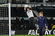 Derby County goalkeeper Ben Hamer (12) in the warm up before the EFL Sky Bet Championship match between Derby County and Stoke City at the Pride Park, Derby, England on 31 January 2020.