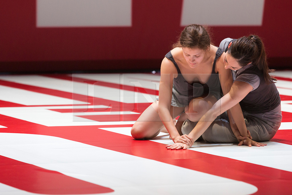 © Licensed to London News Pictures. 01/10/2013. London, England. L-R: Julia Eichten and Amanda Wells. LA Dance Project perform Reflections choreographey by Benjamin Millepied at Sadler's Wells Theatre.  Photo credit: Bettina Strenske/LNP
