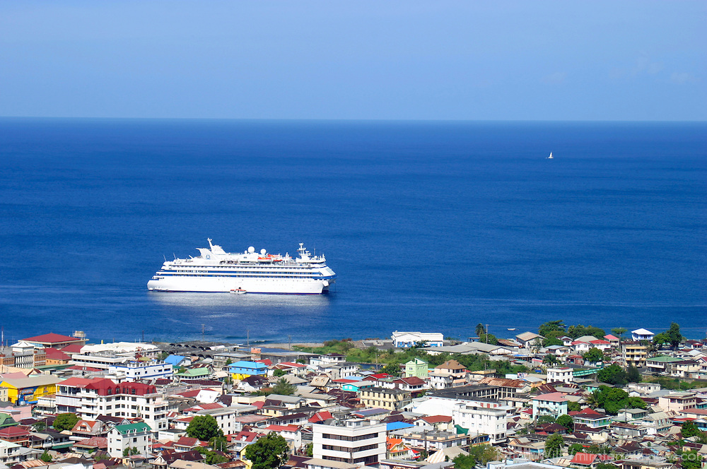 Overlooking St. Maarten, a popular Caribbean cruise destination.