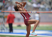 Rachel Glenn of Long Beach Poly wins the girls high jump at 5-8 during the 2019 CIF Southern Section Masters Meet in Torrance, Calif., Saturday, May 18, 2019.