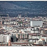 Torino Sky line cantiere grattacielo Intesa sanpaolo
