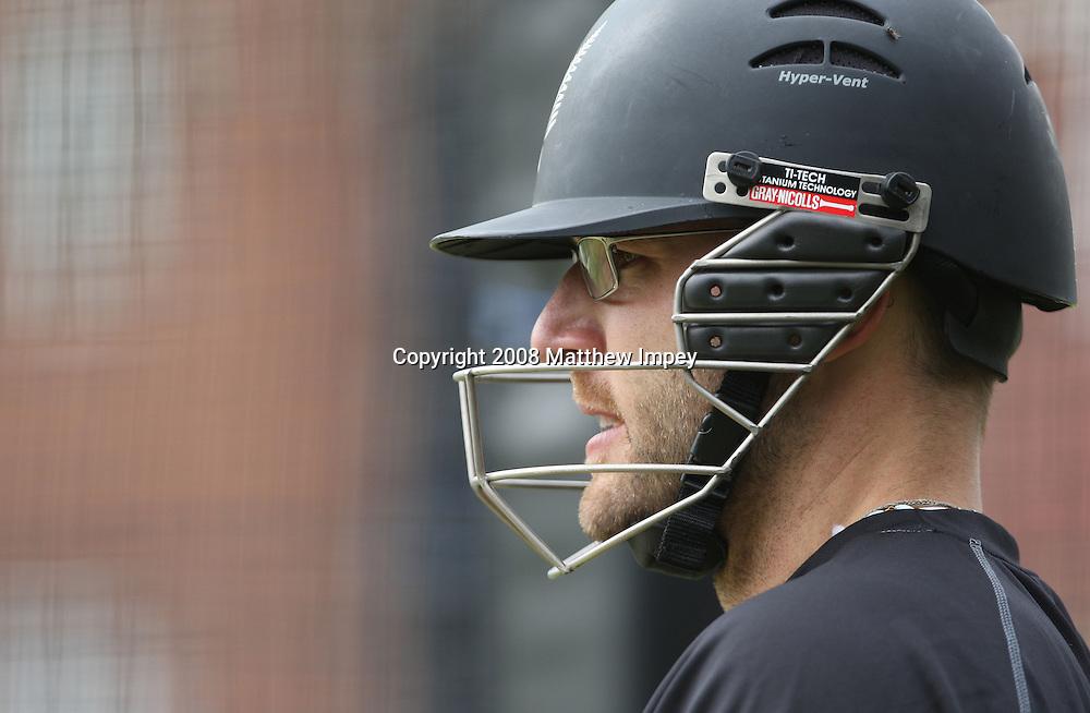 Daniel Vettori in the nets. New Zealand Cricket Nets, Lord's Cricket Ground, St.Johns Wood, London,14/05/2008. © Matthew Impey / Wiredphotos.co.uk. tel: 07789 130 347 e: matt@wiredphotos.co.uk