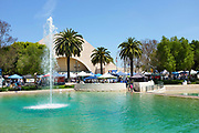 Soka University and Recreation Center with Exhibit Booths During the International Festival