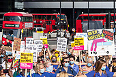 Britain NHS Protests Low Income