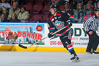 KELOWNA, CANADA - OCTOBER 26: Kole Lind #16 of the Kelowna Rockets skates against the Victoria Royals on October 26, 2016 at Prospera Place in Kelowna, British Columbia, Canada.  (Photo by Marissa Baecker/Shoot the Breeze)  *** Local Caption ***