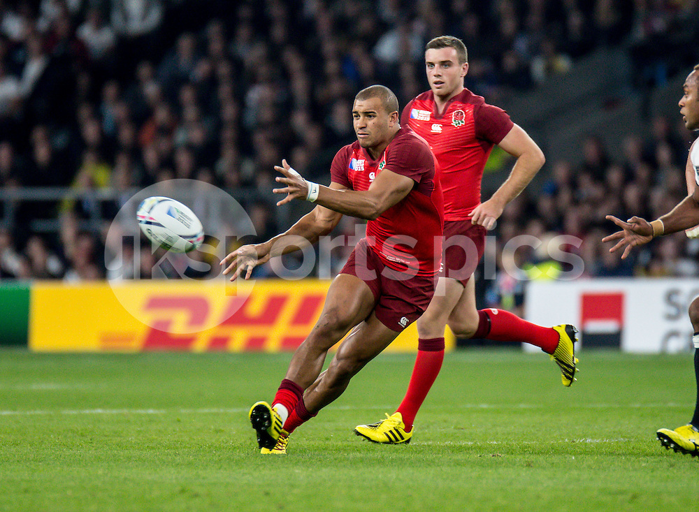Anthony Watson of England during the Rugby World Cup 2015 Pool A match between England and Fiji played at Twickenham Stadium, London on 18 September 2015. Photo by Liam McAvoy.