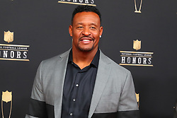 February 2, 2019 - Atlanta, GA, U.S. - ATLANTA, GA - FEBRUARY 02:  Willie McGinest  poses for photos on the red carpet at the NFL Honors on February 2, 2019 at the Fox Theatre in Atlanta, GA. (Photo by Rich Graessle/Icon Sportswire) (Credit Image: © Rich Graessle/Icon SMI via ZUMA Press)