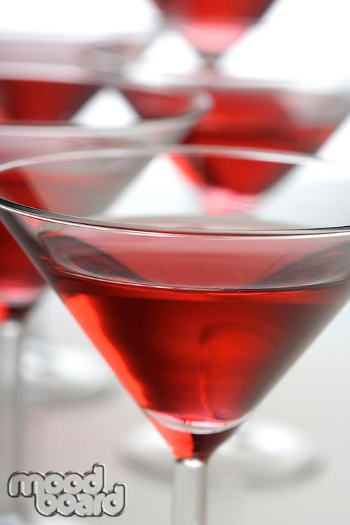 Drinks in matrini glasses