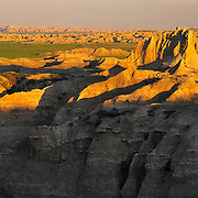 Norbeck Pass deep in the rugged badlands of Badlands National Park, SD.