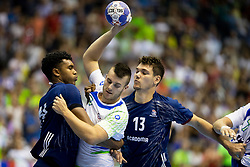 during handball match between National teams of France and Slovenia in Final of 2018 EHF U20 Men's European Championship, on July 29, 2018 in Arena Zlatorog, Celje, Slovenia. Photo by Urban Urbanc / Sportida