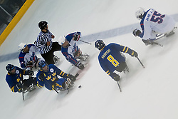 KOR v SWE during the 2013 World Para Ice Hockey Qualifiers for Sochi, Torino, Italy