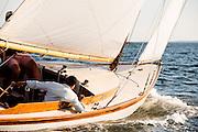Surprise sailing in the Tuesday night Herreshoff S Class racing series.