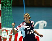 Håndball, 26. september 2002. Treningskamp, Norge - Jugoslavia 31-19. Gro Hammerseng, Norge.
