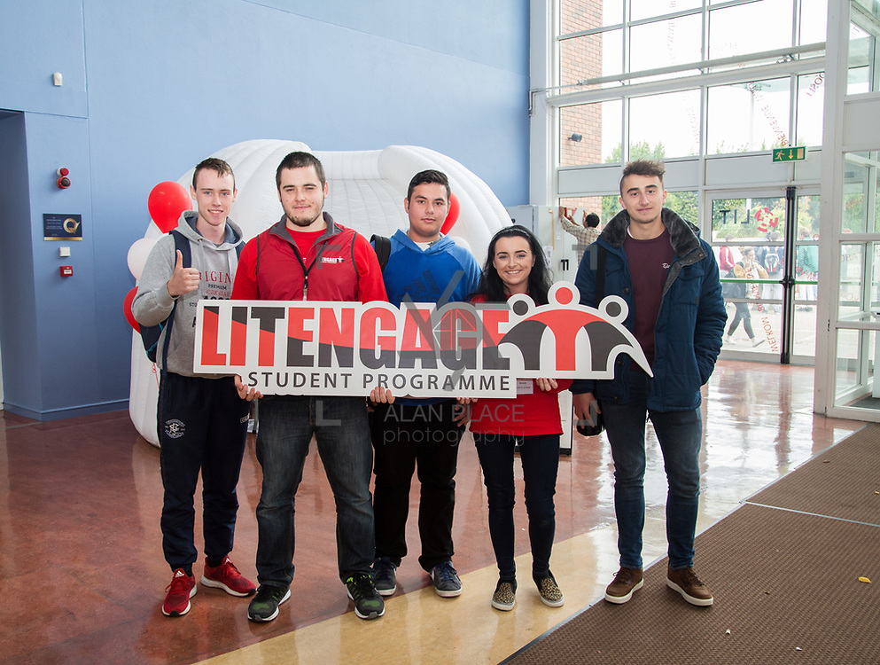 05.09. 2017.                             <br /> Limerick Institute of Technology welcomed its first year students onto Campus today 5th Sept 2017. <br /> Pictured were, Cian Cahill, Music Technology, Rodion Bessonou, Student Leader, Josef Duna, Internet System Development, Michelle Kimmel, Student Leader and Lukas Trocwicz, Internet System Development. Picture: Alan Place