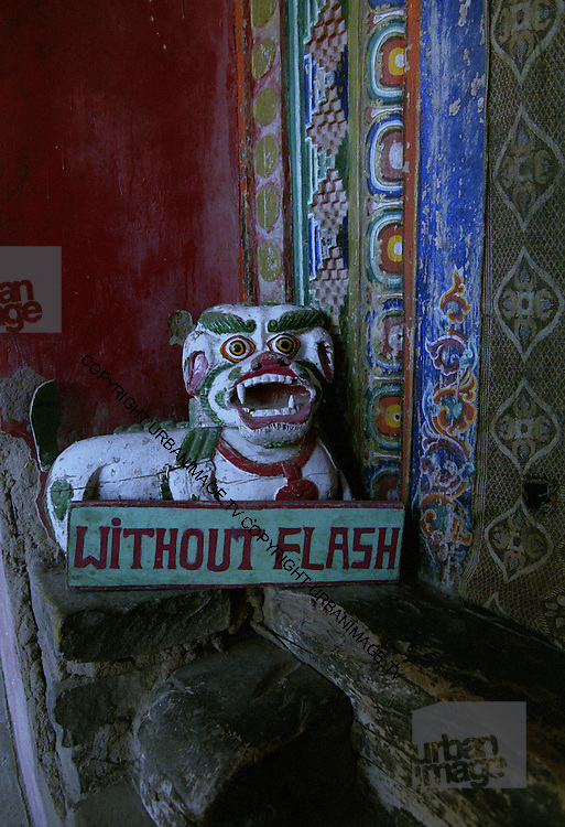 No Flash sign in temple - Ladakh 2006