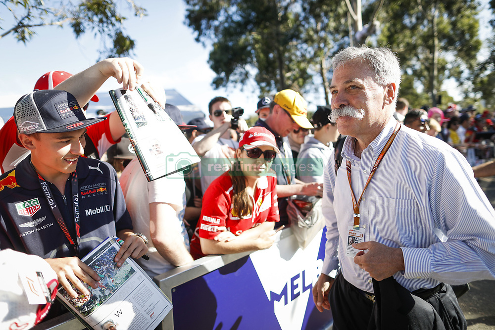 March 22, 2018 - Melbourne, Victoria, Australia - CAREY Chase (usa), Chairman and CEO Formula One Group FOG, portrait autographs with fans during 2018 Formula 1 championship at Melbourne, Australian Grand Prix, from March 22 To 25 - Photo  Motorsports: FIA Formula One World Championship 2018, Melbourne, Victoria : Motorsports: Formula 1 2018 Rolex  Australian Grand Prix, (Credit Image: © Hoch Zwei via ZUMA Wire)