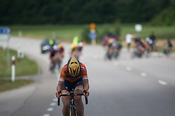 Amy Pieters (NED) of Boels-Dolmans Cycling Team attacks in the final short lap of the Crescent Vargarda - a 152 km road race, starting and finishing in Vargarda on August 13, 2017, in Vastra Gotaland, Sweden. (Photo by Balint Hamvas/Velofocus.com)