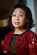 Regina Tong Ching-yi wife of Leung Chun-ying GBM, GBS, JP, commonly known as C. Y. Leung,  the third and incumbent Chief Executive of the Hong Kong Special Administrative Region.<br /> Talks at the annual Womens Foundation Gala Charity Ball
