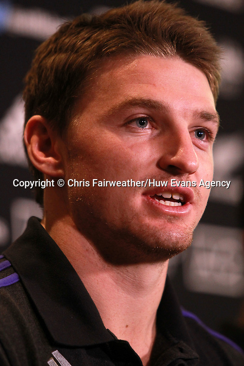 20.11.14 - New Zealand All Blacks Press Conference - Beauden Barrett talks to the press.<br /> <br /> &copy; Huw Evans Picture Agency