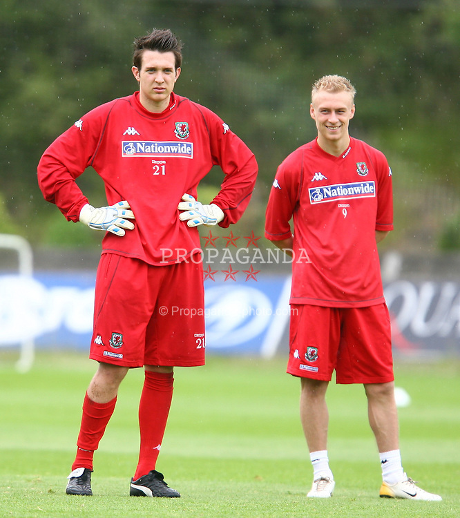 SAN SEBASTIAN, SPAIN - SATURDAY, MAY 20th, 2006: Wales' goalkeeper Lewis Price training in San Sebastian. (Pic by David Rawcliffe/Propaganda)