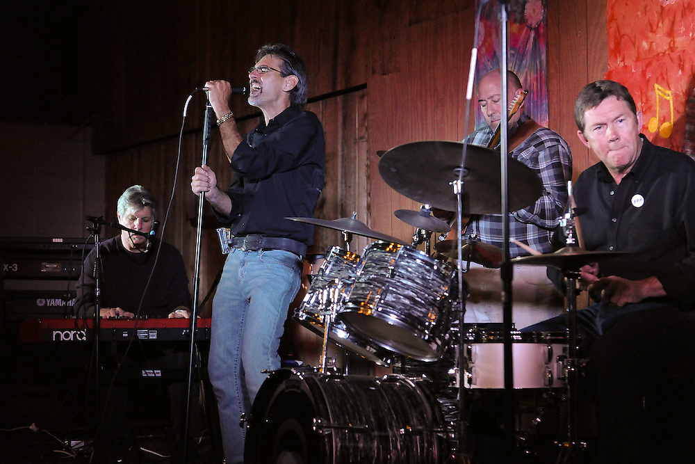 NAPERVILLE, IL- NOVEMBER 20:  Barnstock 2010 was held at The Barn, a famous youth recreation center located in Naperville, Illinois, to celebrate its 45th anniversary on November 20, 2010.  Invited musicians from the bands that played there from 1965-1973 rejoined for a night of music and memories. Pictured here are Fog and The Vynes. (Photo by Ron Vesely)