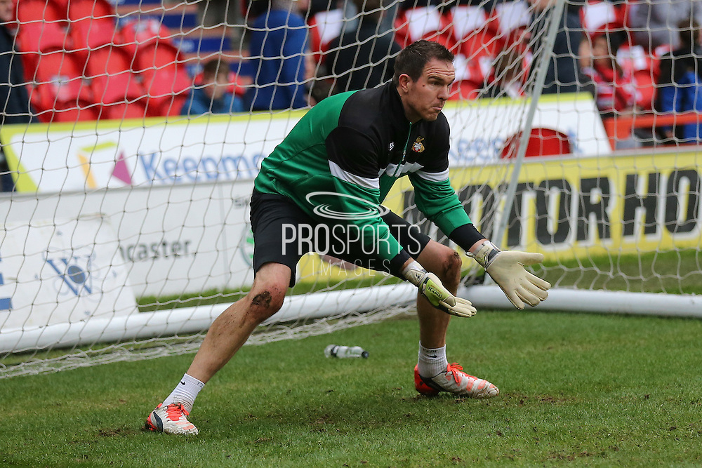 Doncaster Rovers goalkeeper Thorsten Stuckmann  during the The FA Cup third round match between Doncaster Rovers and Stoke City at the Keepmoat Stadium, Doncaster, England on 9 January 2016. Photo by Simon Davies.