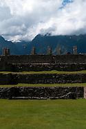The terraces of Machu Picchu in Peru.