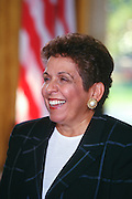 WASHINGTON, DC - September 17:  Head of Health and Human Services Donna Shalala at the Oval Office in the White House in Washington, DC. September 17, 1997  (Photo RIchard Ellis)