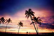 Sunset at Beach, Oahu, HI