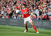 Middlesbrough defender George Friend (3)  during the EFL Sky Bet Championship match between Middlesbrough and Swansea City at the Riverside Stadium, Middlesbrough, England on 22 September 2018.