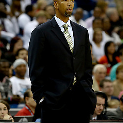 Oct 23, 2013; New Orleans, LA, USA; New Orleans Pelicans head coach Monty Williams against the Miami Heat during the first half of a preseason game at New Orleans Arena. Mandatory Credit: Derick E. Hingle-USA TODAY Sports