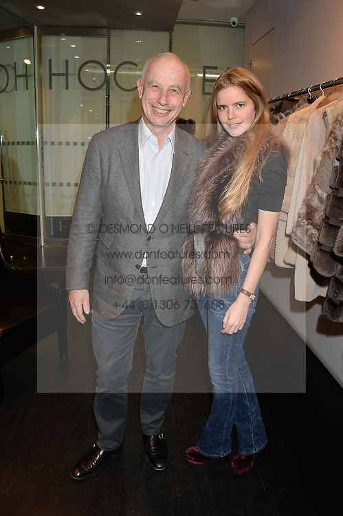 FRANK ZILBERKWEIT and KATIE READMAN at a preview of the Hockley Autumn -Winter 2013/2014 Collection at Hockley, 20 Conduit Street, London on 26th November 2013.