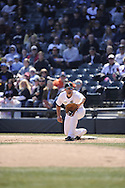 CHICAGO - APRIL 04:  Paul Konerko #14 of the Chicago White Sox fields against the Kansas City Royals on April 4, 2013 at U.S. Cellular Field in Chicago, Illinois.  The Royals defeated the White Sox 3-1.  (Photo by Ron Vesely)   Subject: Paul Konerko