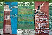 Painted shop front. Baie du Tombeau