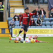 Dundee&rsquo;s Kane Hemmings goes past Ross County&rsquo;s Martin Woods - Dundee v Ross County - Ladbrokes Premiership at Dens Park<br /> <br />  <br />  - &copy; David Young - www.davidyoungphoto.co.uk - email: davidyoungphoto@gmail.com