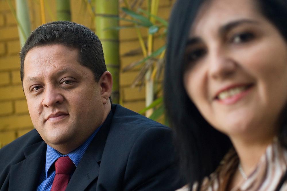 La Dra. Emilia De Leon y el Dr. Gilberto Andrea Gonzalez, abogados y representantes del Escritorio Juridico Andrea & De Leon. Caracas, 13-05-08 (ivan gonzalez)