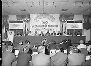 GAA Annual Congress At Malahide.   (R99)..1989..01.04.1989..04.01.1989..1st April 1989..The annual GAA Congress was held this week at the Grand Hotel, Malahide,Dublin. The congress sets out GAA policy for the coming year...Image shows the GAA Congress committee at the top table; (L-R); P O Tiernaigh, Financial Manager, GAA; Ciaran O'Neill, Commercial Manager,GAA;. S Mac Domhnaill, Trustee; S Boothman, Chairman,Leinster Branch; M O'Conchuir,Outgoing Chairman,Munster Council; L O'Maolmhichil, Ard Stiurthoir; S O'Dubhlann, Uachtarán; Dr M O'Lochlainn, Past President; P O'Cuinn,Outgoing Chairman,Ulster Council; S O'Tuathaill, Connacht Chairman; B O'Cathail and P O'Cionnaith, Trustee.