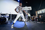 Cakes Da Killa performing at the Red Bull Sound Select at Rough Trade in New York City on July 15, 2014.