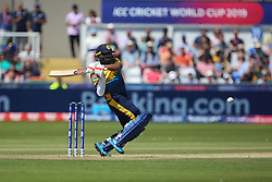 June 28, 2019 - Chester Le Street, County Durham, United Kingdom - Sri Lanka's Isuru Udana batting during the ICC Cricket World Cup 2019 match between Sri Lanka and South Africa at Emirates Riverside, Chester le Street on Friday 28th June 2019. (Credit Image: © Mi News/NurPhoto via ZUMA Press)