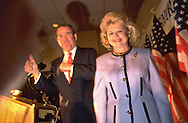 Pat Buchanan and his wife on the presidential campaign trail.