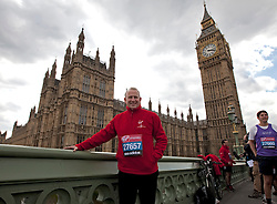 © Licensed to London News Pictures. 16/04/2012. London, U.K..Graham Evans MP for Weaver Vale..Shadow Chancellor Ed Balls and MPs Edward Timpson, Alun Cairns, Graham Evans, Chris Kelly, Phillip Lee, and Jack Lopresti  in their running kit ahead of Sunday's London Marathon..Photo credit : Rich Bowen/LNP