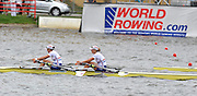 Poznan, POLAND,  GBR W2X Bow Annbel BEBINGTON and Annie VERNON  competing in the  women's double sculls,  final at the 2009 FISA World Rowing Championships. held on the Malta Rowing lake, Saturday  29/08/2009  [Mandatory Credit. Peter Spurrier/Intersport Images]