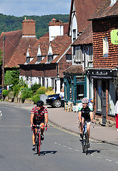 © Licensed to London NewPictures.01/08/2017.Otford,<br /> UK.<br /> August sunny weather in Kent. Otford Village.<br /> Photo credit: Grant Falvey/LNP