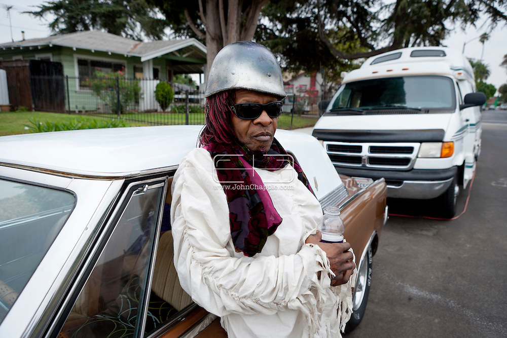 16th September 2011. Los Angeles, California. Aging musician Sly Stone, from the band 'Sly and the Family Stone'.  Stone who rose to fame in the 60's is now allegedly living in a camper van. Photo © John Chapple / www.chapple.biz