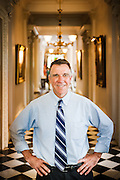 Lieutenant Governor Phil Scott stands inside the Vermont State House on Tuesday, June 10, 2014. Scott is the only Republican running for statewide office in Vermont and is also the only Republican who currently holds it. (Jacob Hannah for The New York Times)