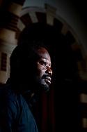 AMSTERDAM - portret  van Jerry Afriyie . Daar protesteerden activisten van Kick Out Zwarte Piet, onder wie de leider van de beweging Jerry Afriyie ROBIN UTRECHT