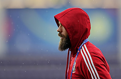 TOULOUSE, FRANCE - Sunday, June 19, 2016: Wales' Joe Ledley during a training session at the Stadium de Toulouse ahead of the final Group B UEFA Euro 2016 Championship match against Russia. (Pic by David Rawcliffe/Propaganda)