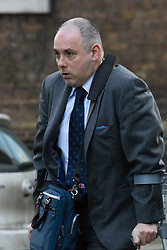 Downing Street, London, February 23rd 2016. Minister without Portfolio Robert Halfon arrives at the weekly cabinet meeting.  &copy;Paul Davey<br /> FOR LICENCING CONTACT: Paul Davey +44 (0) 7966 016 296 paul@pauldaveycreative.co.uk