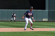 Joe Mauer #7 of the Minnesota Twins takes a lead off 2nd base during a game against the Baltimore Orioles on May 12, 2013 at Target Field in Minneapolis, Minnesota.  The Orioles defeated the Twins 6 to 0.  Photo: Ben Krause